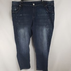 Lane Bryant Rhinestones Cropped Ankle Jeans